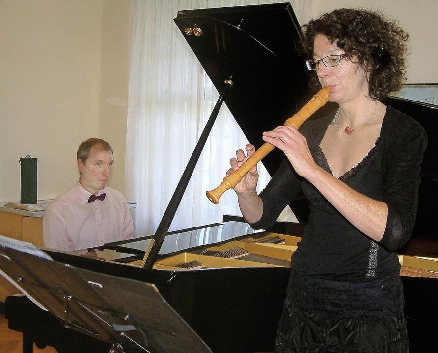Barockes und Modernes spielten Ursula ...mermusikreihe zum Musikschuljubiläum.   | Foto: Roswitha Frey