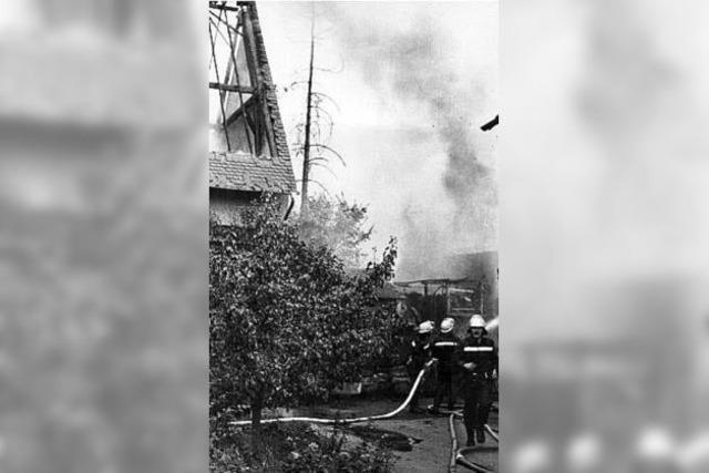 Als zwei Höfe in Flammen standen