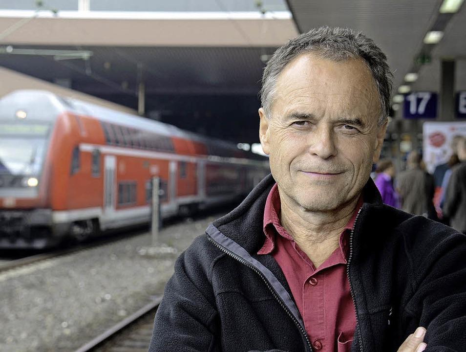 Raus aus dem Alltag:  Unser Autor Fran...t, mit wem er das Abteil teilen wird.     Foto: privat