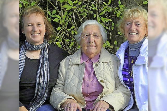 Glücklich alt im Familienverband