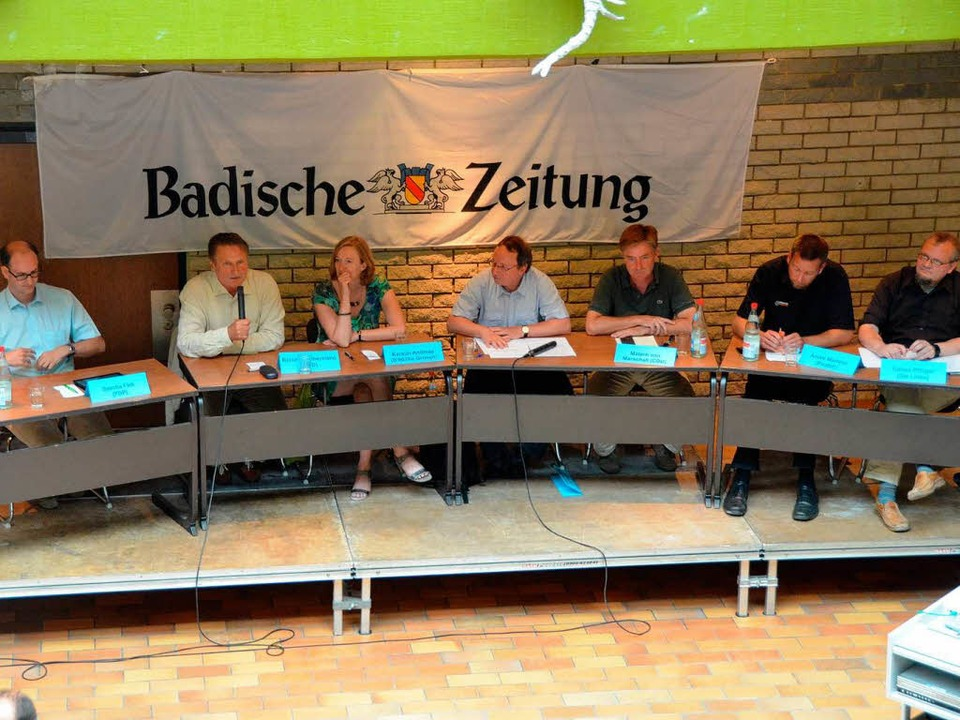 Bundestagskandidaten des Wahlkreises F...der BZ im Martin-Schongauer-Gymnasium.  | Foto: Thomas Rhenisch