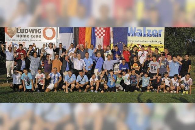 Kroatische Fußballjugend in Kenzingen