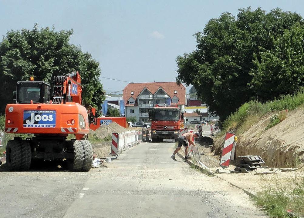 Erschließungsarbeiten für das neue Bau...r Königschaffhauser Straße in Endingen  | Foto: Stadt Endingen