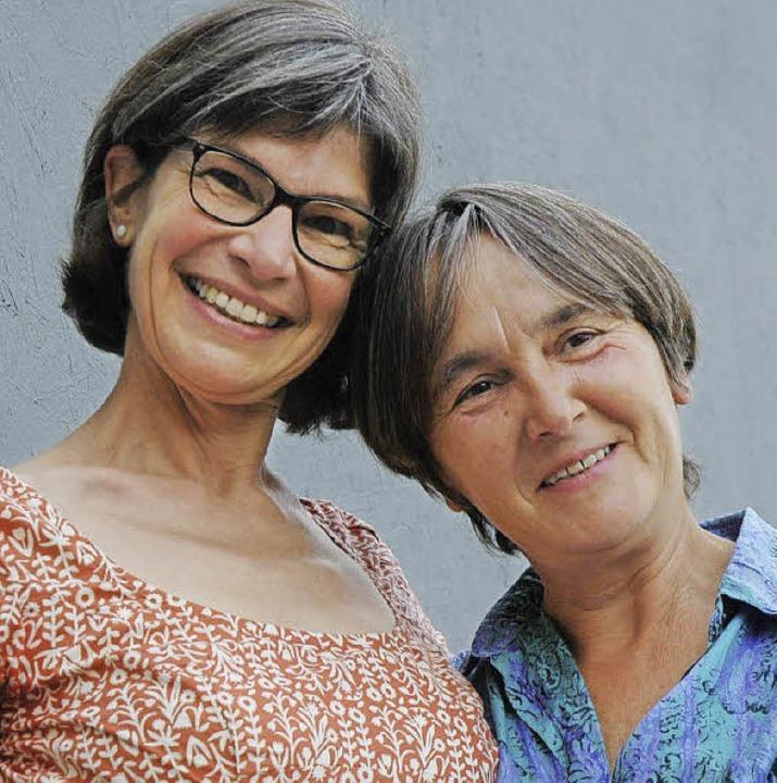 C. Oursin (links) und Annegret Brake  | Foto: Britta Wieschenkämper