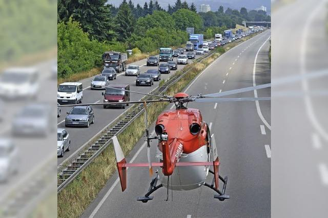 Unfall auf Zubringer-Mitte