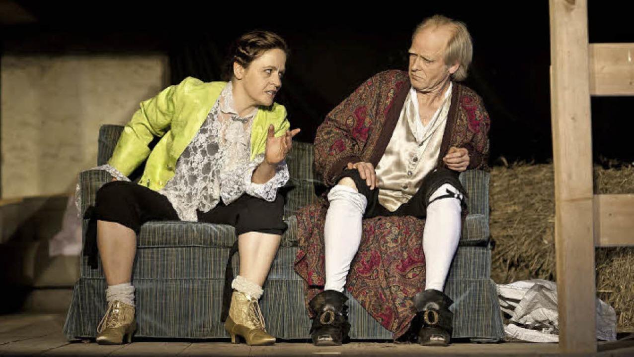 Casanova - ein Duell. Mit Simone Rosa ...d Ullo von Peinen. Foto: Martin Koswig  | Foto: Martin Koswig