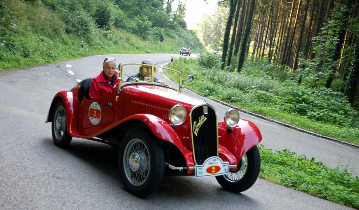240 anstrengende  Schwarzwaldkilometer...Zieleinfahrt in Schopfheim abverlangt.  | Foto: Edgar Steinfelder
