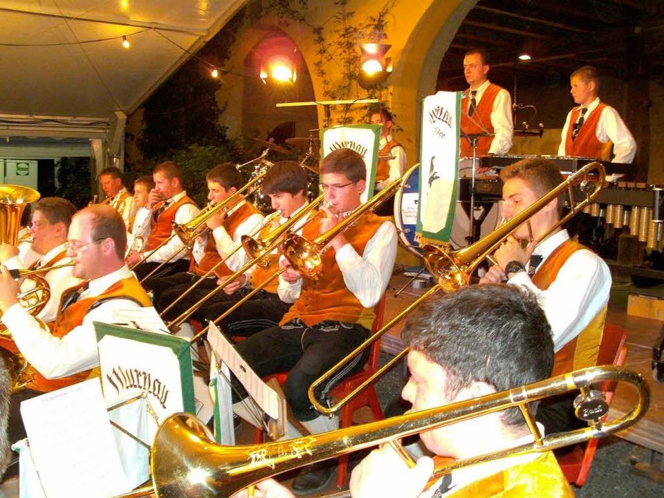 Hatten beim großen Sommerkonzert im Sc...Blaskapelle aus dem bayrischen Murnau.  | Foto: Anne Freyer