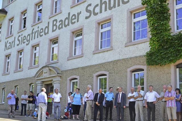 Namensgeber Karl-Siegfried Bader