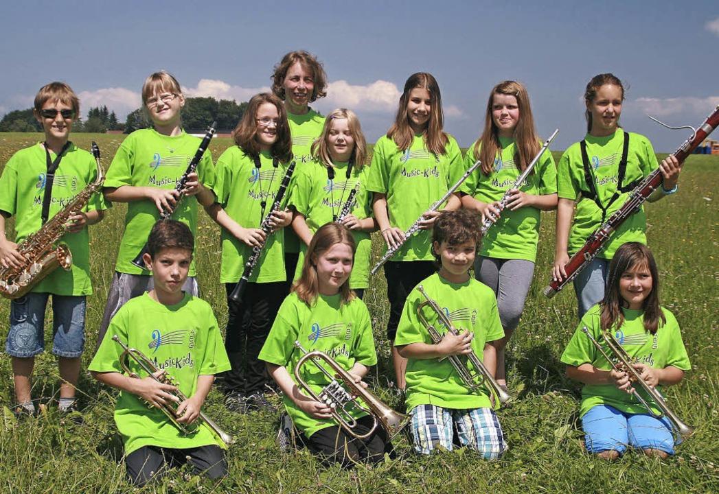 Die ABG-Musik-Kids – ein neues R...am Freitag beim Bergalinger Dorfhock.   | Foto: Privat