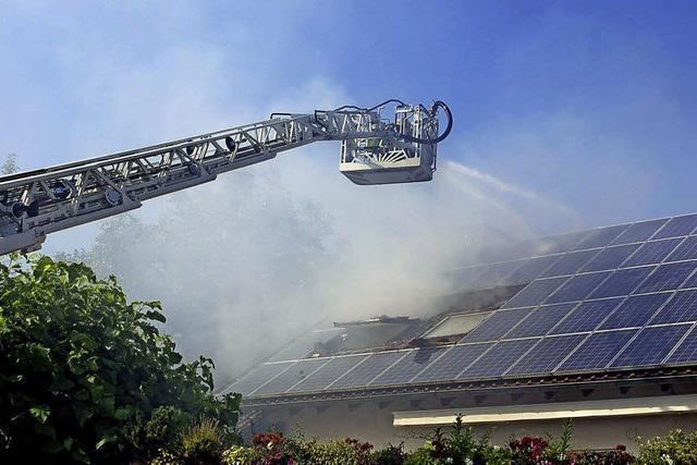 Hoher Schaden bei Dachstuhlbrand