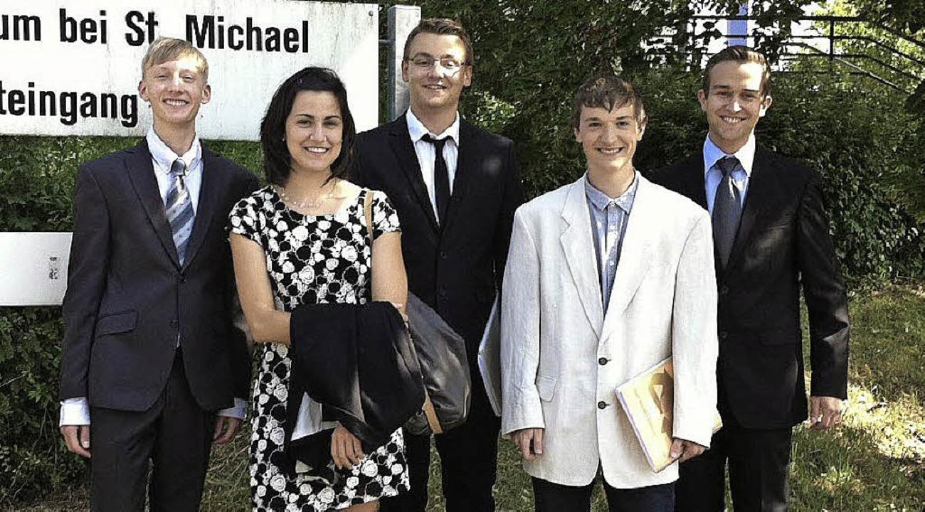 Die Breisacher Model United Nations AG... Royar, Max Barth und Markus Heckmann.  | Foto: privat