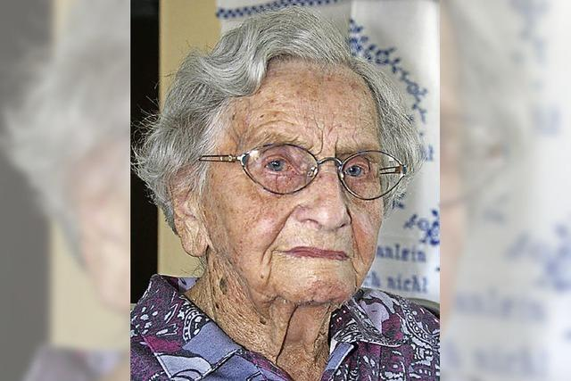 Ida Flubacher wird heute 100 Jahre alt