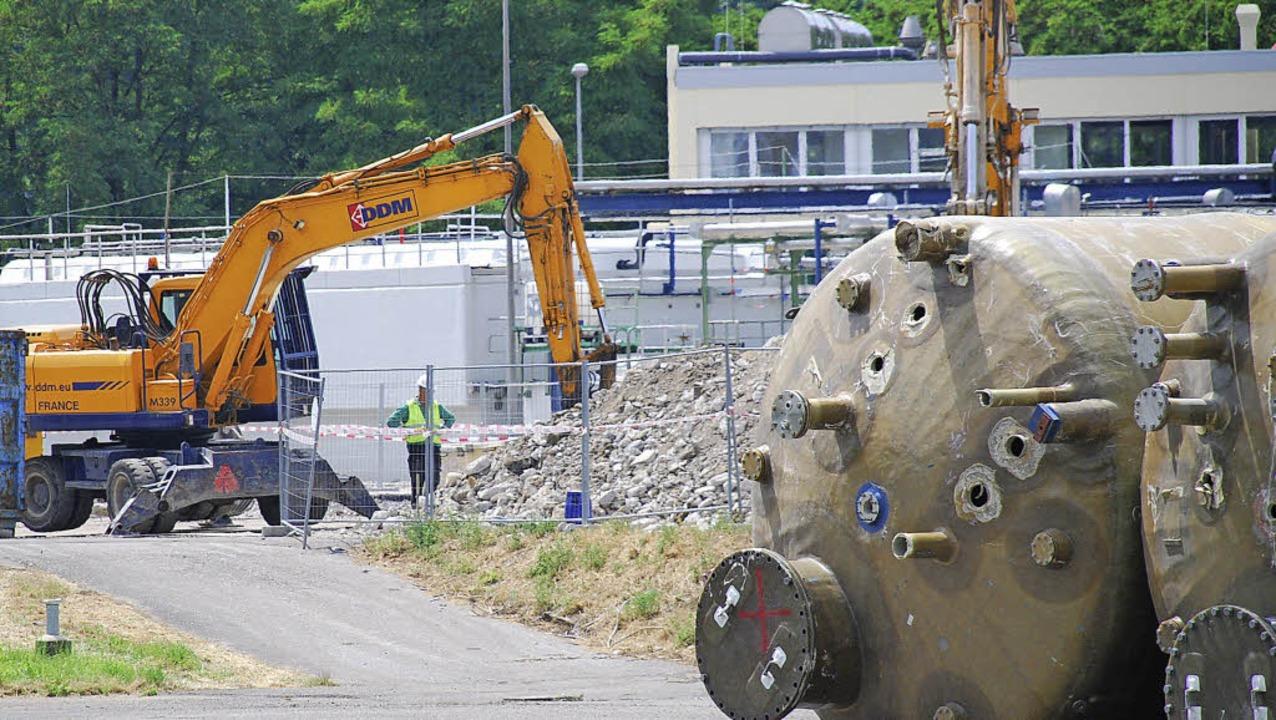 Areal Im Umbruch: Bei BASF laufen Abbr...llungen der Firma allerdings bleiben.     Foto: Ralf Staub