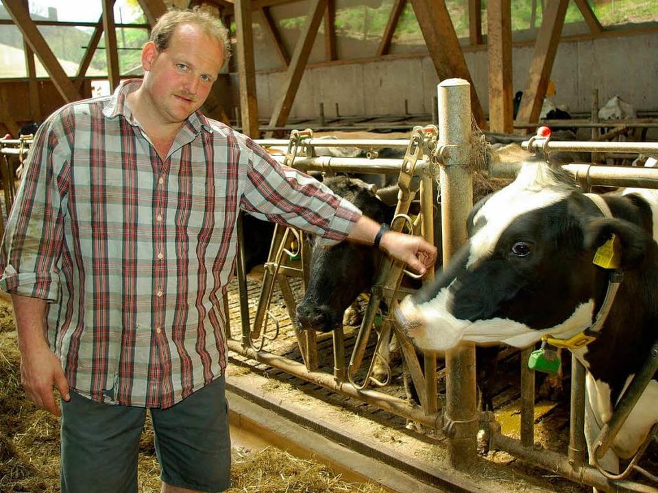 Stefan Lehmann kämpft seit Jahren für ... höheren Preis für die Milcherzeuger.   | Foto: hubert röderer