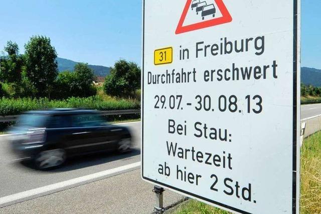 Baustelle in Freiburg: Pendler haben Bammel vor dem großen B31-Stau