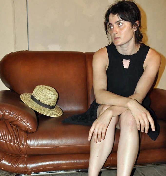 Die Künstlerin Nathalie Suvorov-Franz ...ektionsarbeit zum Thema beigesteuert.     Foto: Annette Mahro