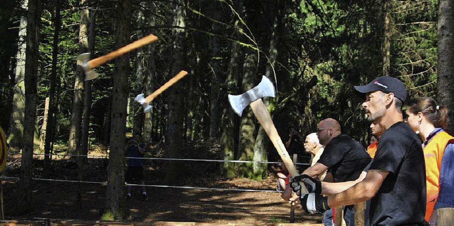 Auf je drei Bahnen flogen die  Doppelä...uf den Nachbarbahnen  gefährdet wurde.  | Foto: Ralph Fautz