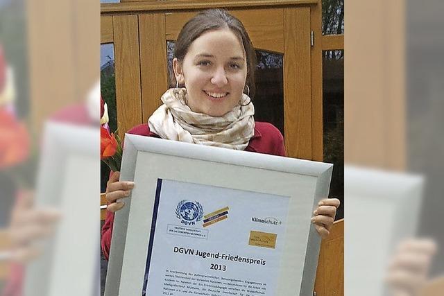 Friedenspreis für Jana Schäfer