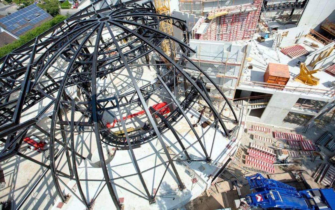 Die Baustelle aus der Luft.  | Foto: Europa-Park Rust
