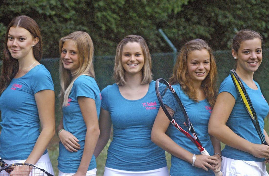 Die Damen-Meistermannschaft des Tennis...n, Valerie Leber und  Melissa Sexauer   | Foto: Privat