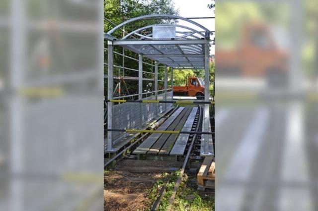 Schüler bauen Brücke über den Brettenbach