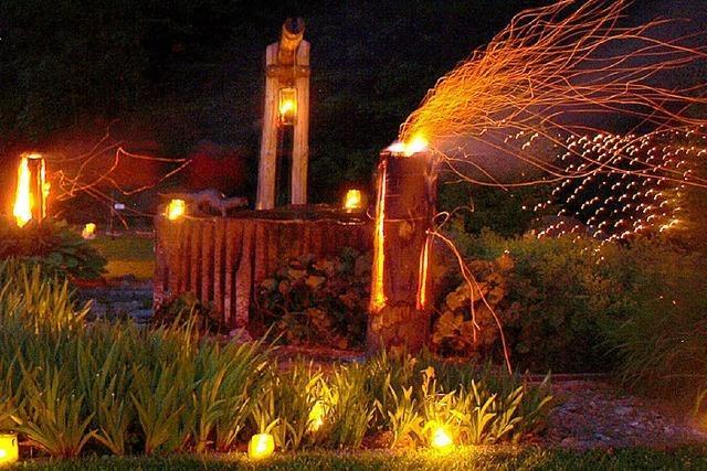 Herrliches Lichtermeer beim Lichterfest Bürchau