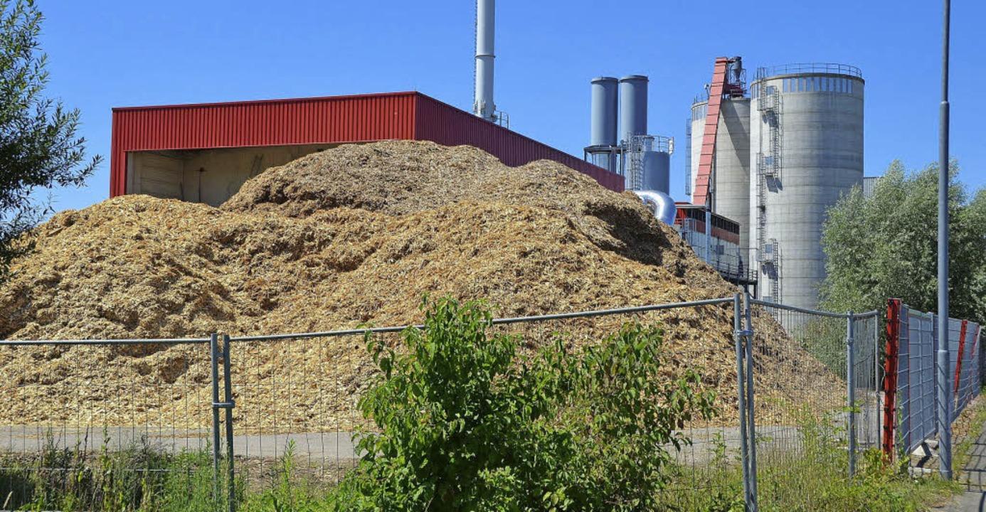 Der Brennstoff  für das Heizwerk von G...ks neben dem Heizwerk gelagert werden.  | Foto: Fischer