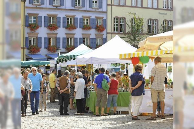 Regionalmarkt auf dem Freiburger Augustinerplatz