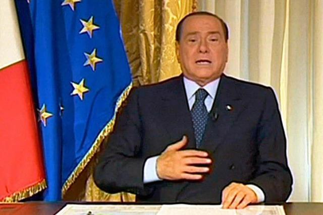 Berlusconi-Partei droht und warnt vor