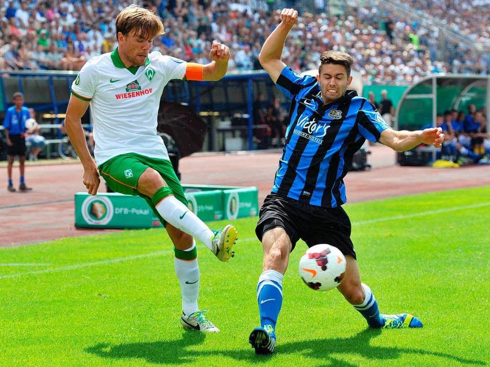 Werder versagt wieder im Pokal.  | Foto: dpa