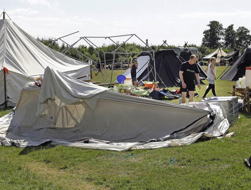 So sah es am Wochenende im Pfadfinderlager aus.     Foto: privat