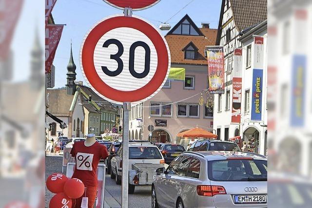 Lange Straße in Waldkirch: Hier gilt jetzt Tempo 30