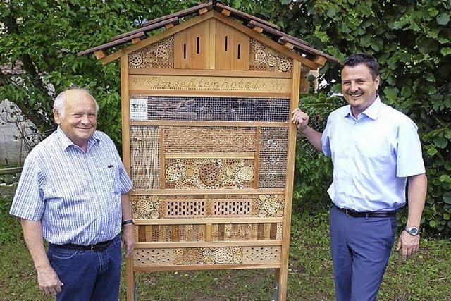 Insektenhotel lockt Gäste