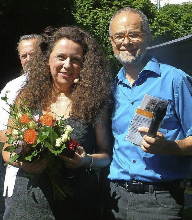 Bürgermeister Rudolf Rümmele dankte He...ich für die wunderschöne Inszenierung.  | Foto: Roswitha Frey