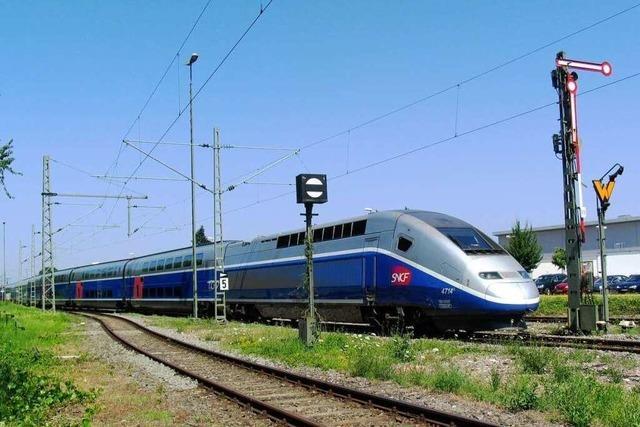 TGV hält in Müllheim – aber nicht zum Ein- und Aussteigen
