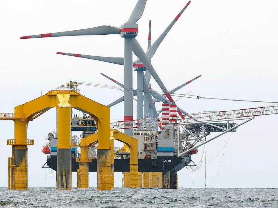 Windpark auf See  | Foto: dpa