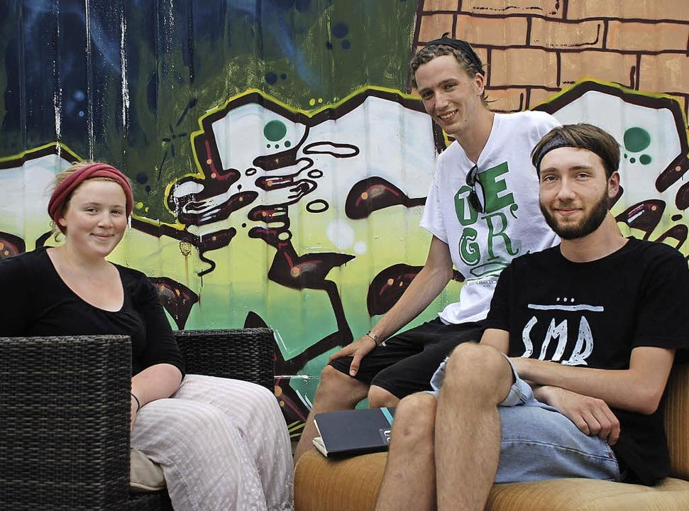 Sie wollen die Jugendkultur in Offenbu...ifiz-Halbinsel zur HipHop-Oase machen.    Foto: Gertrude Siefke