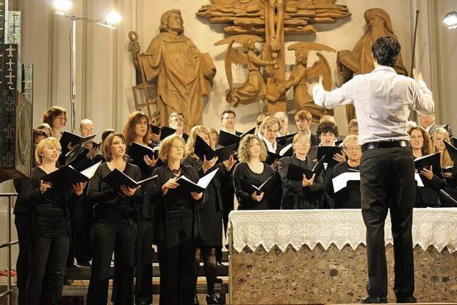 Männerprojektchor Astrágalos singt in Hornberg