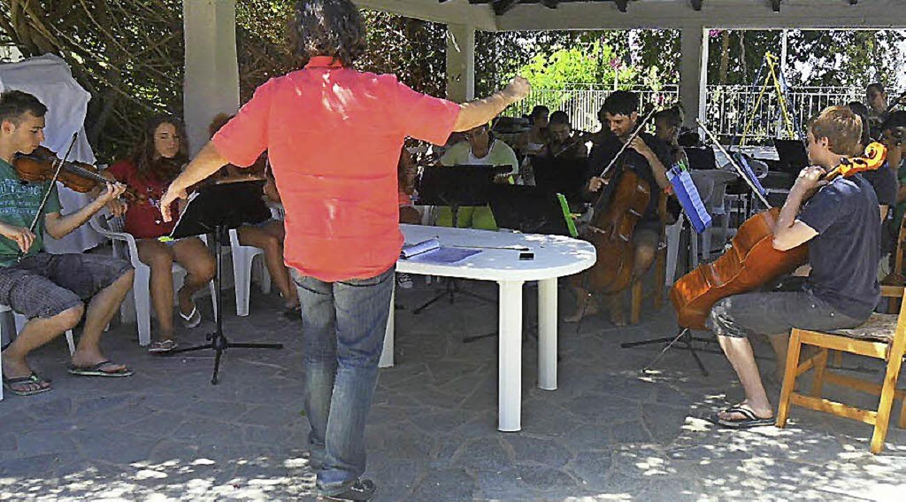 So cool kann eine arbeitsame Musikerbegegnung sein.   | Foto: Helen Beck