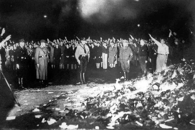 Auch in Freiburg wurden von den Nazis Bücher verbrannt