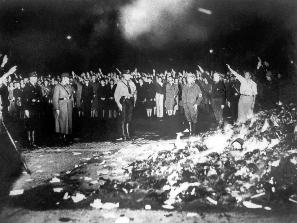 Bücherverbrennung am 10. Mai 1933 in Berlin    Foto: dpa