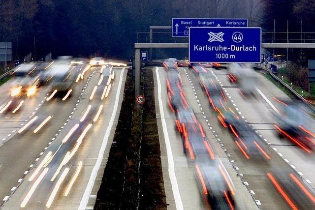 A5 bei Karlsruhe: Bauarbeiten enden früher