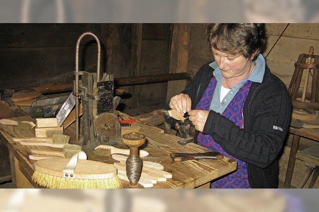 Altes Handwerk und lokale Produkte