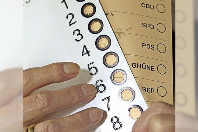 Hilfe für blinde Wähler