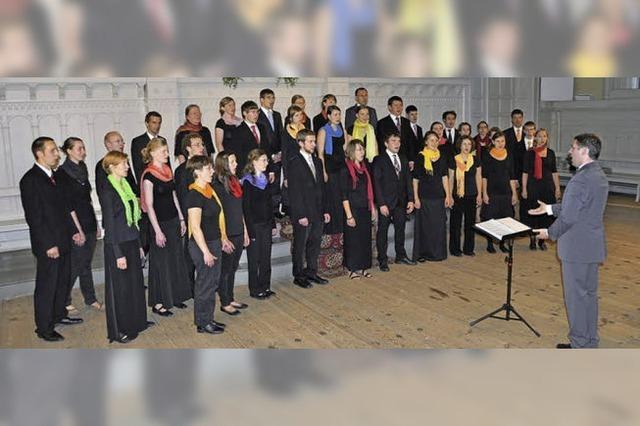 Vokalensemble Ostinato singt in Freiburg-Herdern