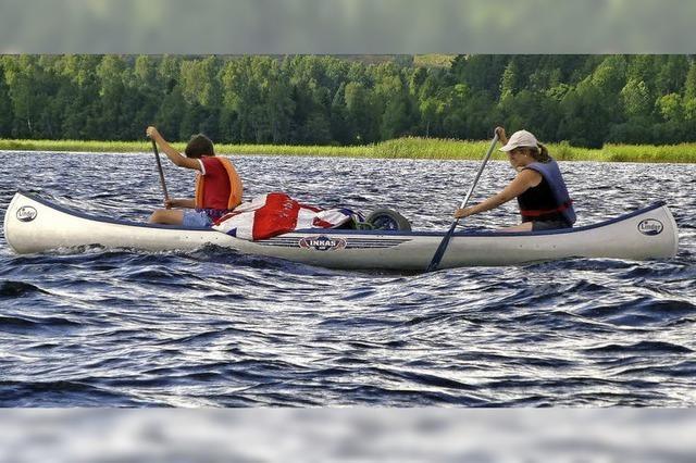 Eine Woche im Kanu unterwegs, eine in der Hütte