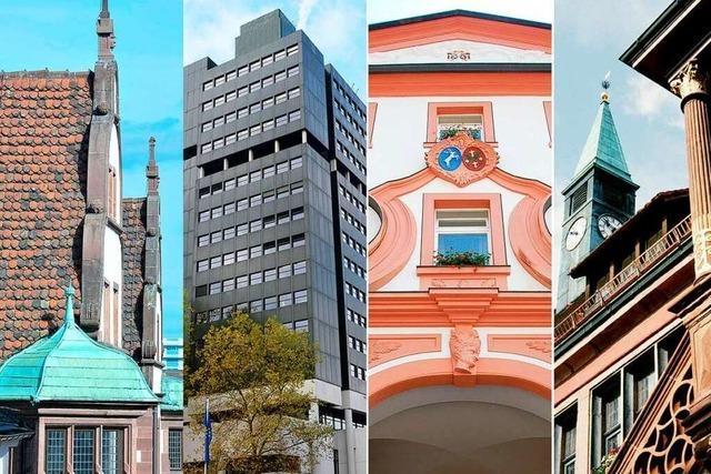 Wo steht dieses Rathaus in Südbaden?