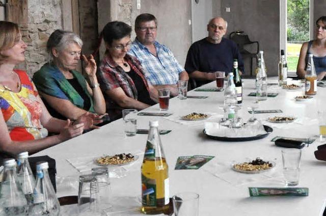 Die Grünen-Abgeordnete Kerstin Andreae traf sich mit Bürger in Schallstadt