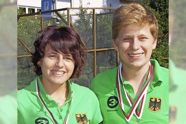 Anna Rümmelin und Maximilian Frech sind Jugendeuropameister im Minigolf